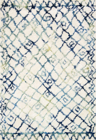 Loloi Folklore FW-01 Ivory / Ocean Area Rug by Justina Blakeney main image