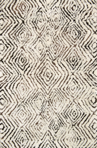Loloi Folklore FW-03 Ivory / Granite Area Rug by Justina Blakeney main image