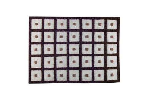 MAT Surface Frame Brown Area Rug main image
