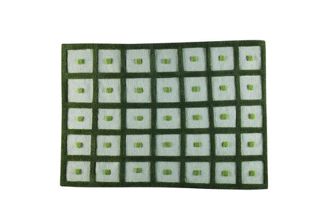 MAT Surface Frame Green Area Rug main image
