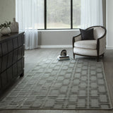 Momeni Fresco FRE-3 Grey Area Rug Room Scene