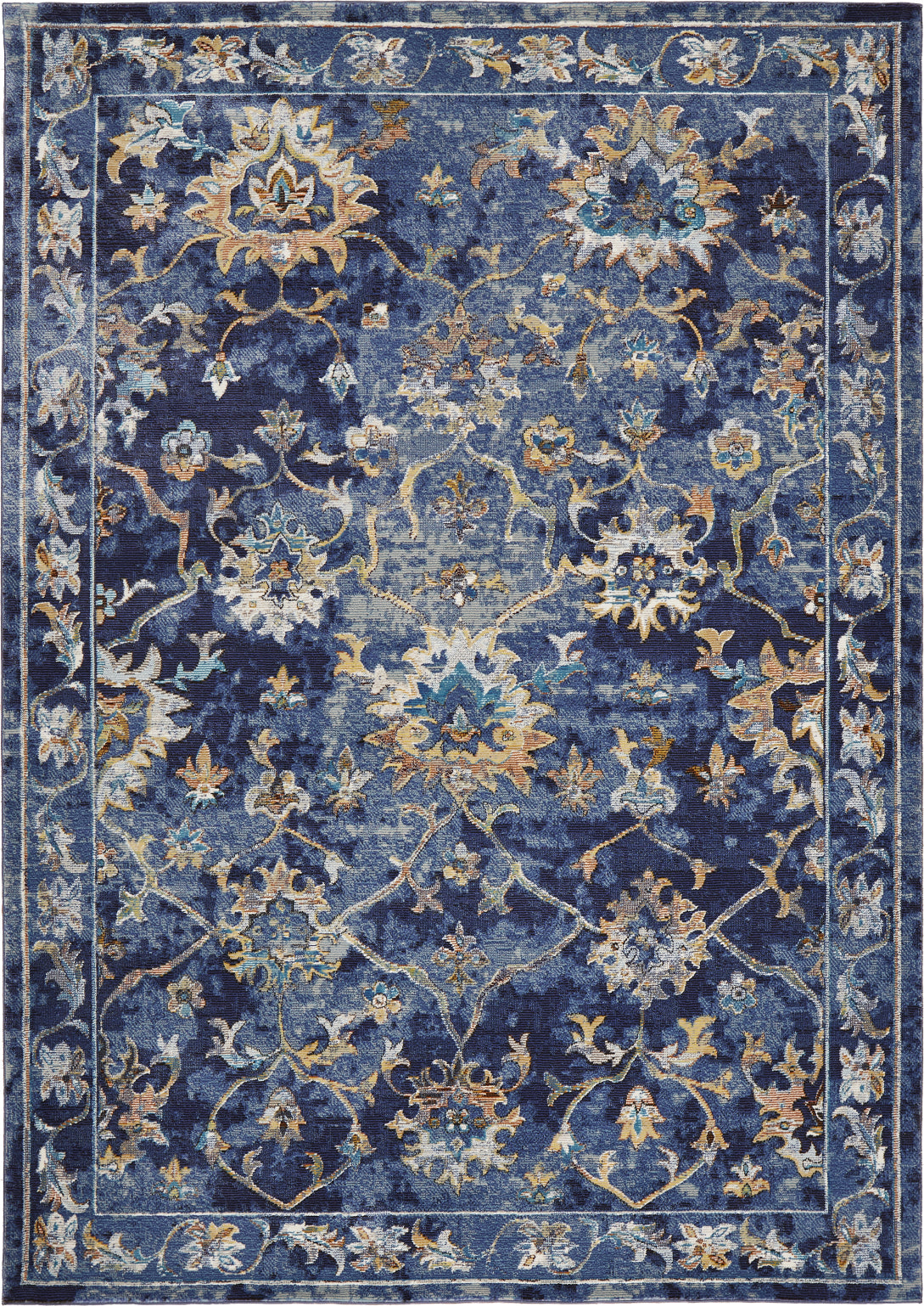 LR Resources Gala 81275 Indigo Multi Area Rug main image