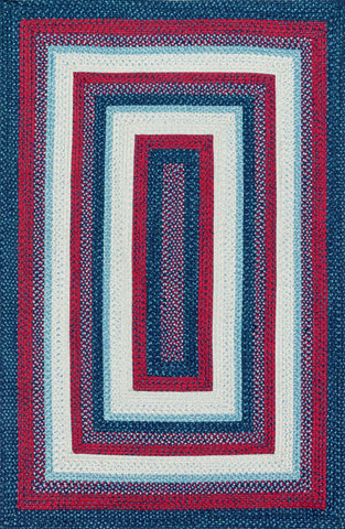 Loloi Garrett GA-01 Blue / Red Area Rug main image