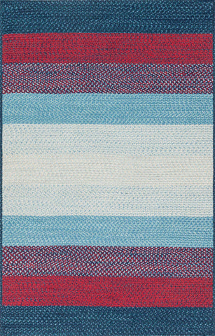 Loloi Garrett GA-05 Blue / Red Area Rug main image