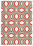 Linon Geo Collection RUGGE06 Grey/RedOrange Area Rug main image