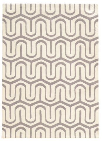 Linon Geo Collection RUGGE10 Grey/Ivory Area Rug main image