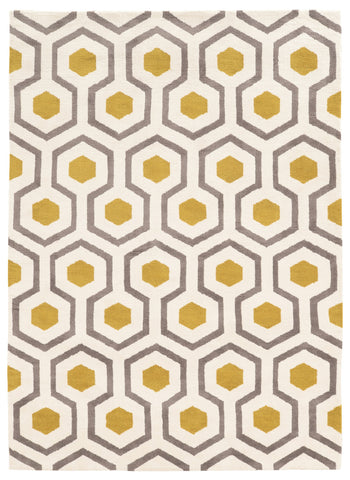Linon Geo Collection RUGGE11 Ivory/Grey Area Rug main image