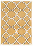 Linon Geo Collection RUGGE13 Goldenrod/Ivory Area Rug main image