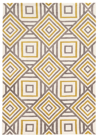 Linon Geo Collection RUGGE14 Ivory/Grey Area Rug main image