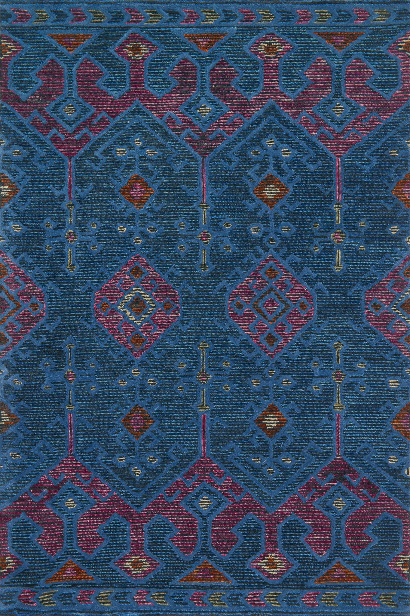Loloi Gemology GQ-02 Blue/Plum Area Rug by Justina Blakeney main image