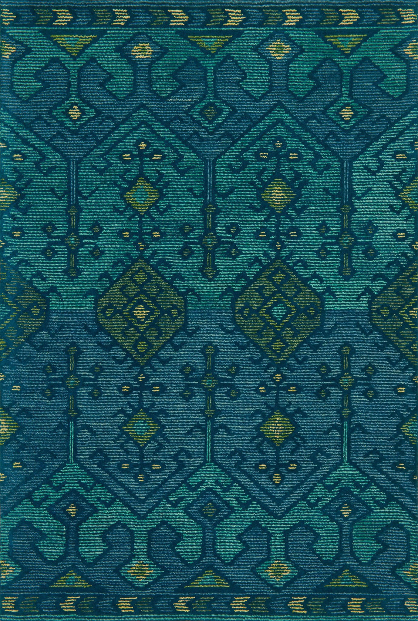Loloi Gemology GQ-02 Green/Teal Area Rug by Justina Blakeney main image