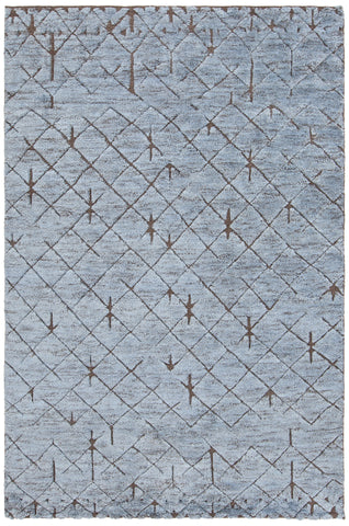Chandra Genna GEN-45202 Blue/Brown Area Rug main image