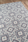Momeni Geo GEO16 Grey Area Rug Close Up