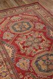 Momeni Ghazni GZ-02 Red Area Rug Detail Shot