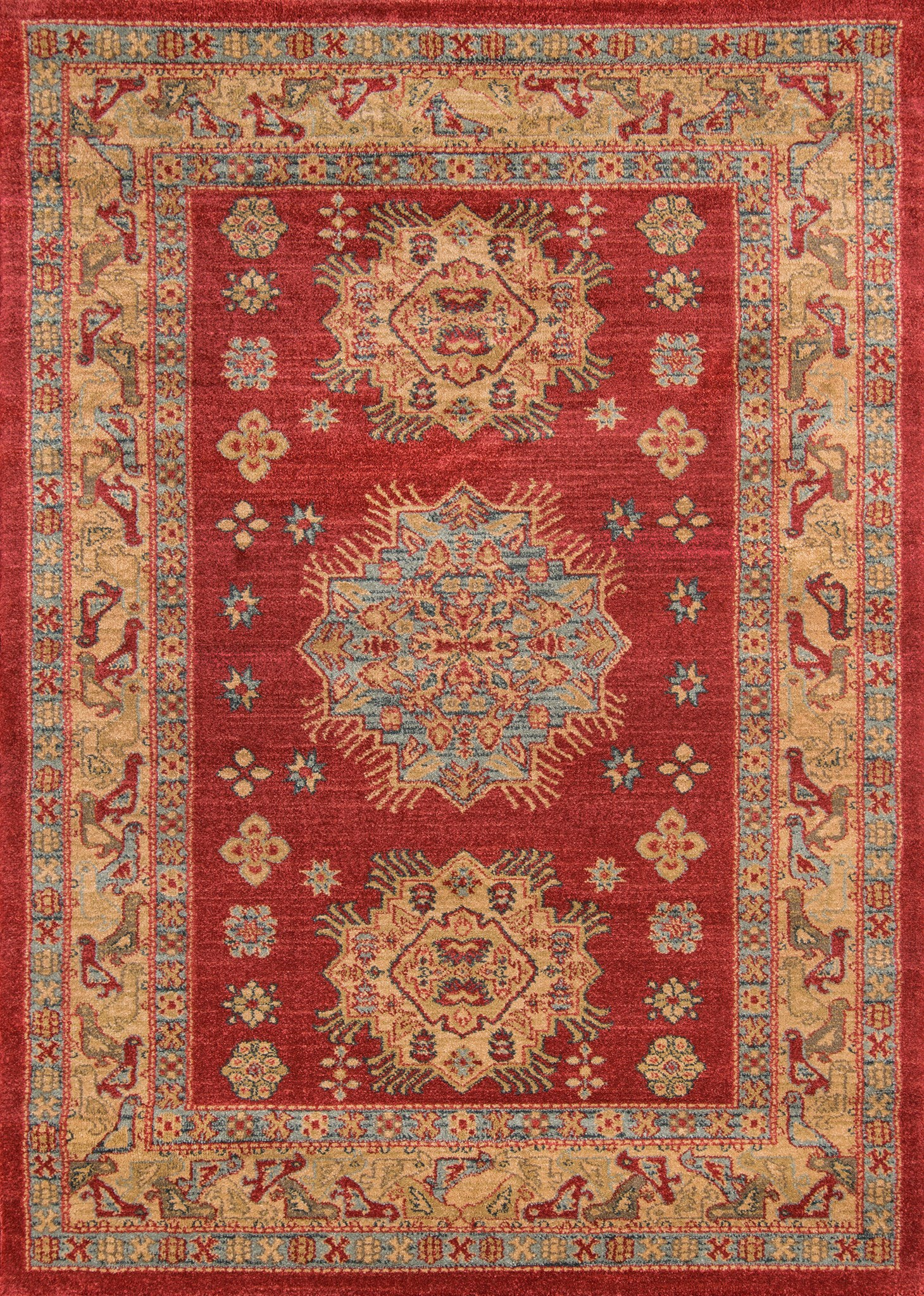 Momeni Ghazni GZ-03 Red Area Rug main image