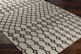 Artistic Weavers Ghana Jayden Light Gray/Chocolate Brown Area Rug Corner Shot