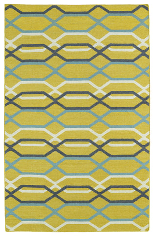 Kaleen Glam GLA01-28 Yellow Area Rug