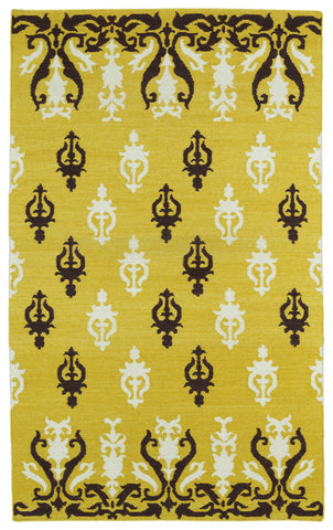 Kaleen Glam GLA04-28 Yellow Area Rug