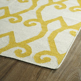 Kaleen Glam GLA05-28 Yellow Area Rug Close-up Shot Feature