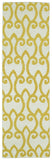 Kaleen Glam GLA05-28 Yellow Flat Weave Area Rug