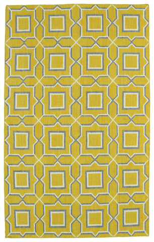 Kaleen Glam GLA06-28 Yellow Area Rug