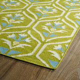 Kaleen Glam GLA08-70 Wasabi Area Rug Close-up Shot