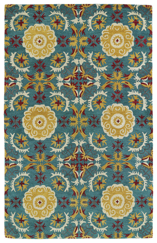 Kaleen Global Inspirations GLB06-78 Turquoise Area Rug