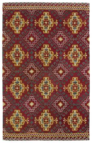 Kaleen Global Inspirations GLB07-25 Red Area Rug