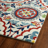 Kaleen Global Inspirations GLB08-01 Ivory Area Rug Close-up Shot
