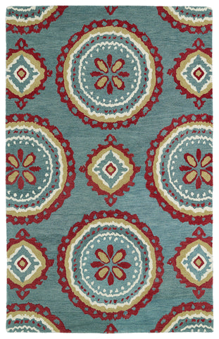 Kaleen Global Inspirations GLB09-91 Teal Area Rug