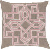 Surya Gatsby Multidimensional Chic GLD-003 Pillow by Beth Lacefield 22 X 22 X 5 Poly filled