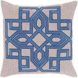 Surya Gatsby Multidimensional Chic GLD-007 Pillow by Beth Lacefield 22 X 22 X 5 Down filled