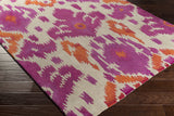 Artistic Weavers Geology Skylar Magenta/Bright Orange Area Rug Corner Shot