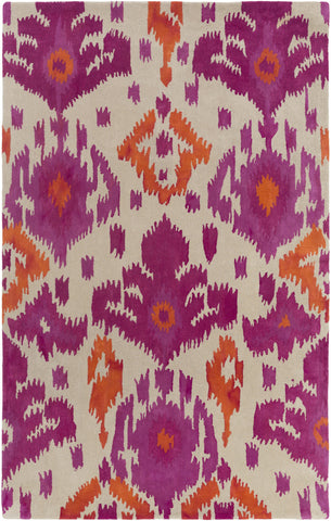 Artistic Weavers Geology Skylar Magenta/Bright Orange Area Rug main image