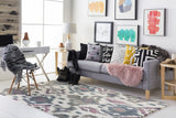 Artistic Weavers Geology Skylar Charcoal/Gray Area Rug Room Scene