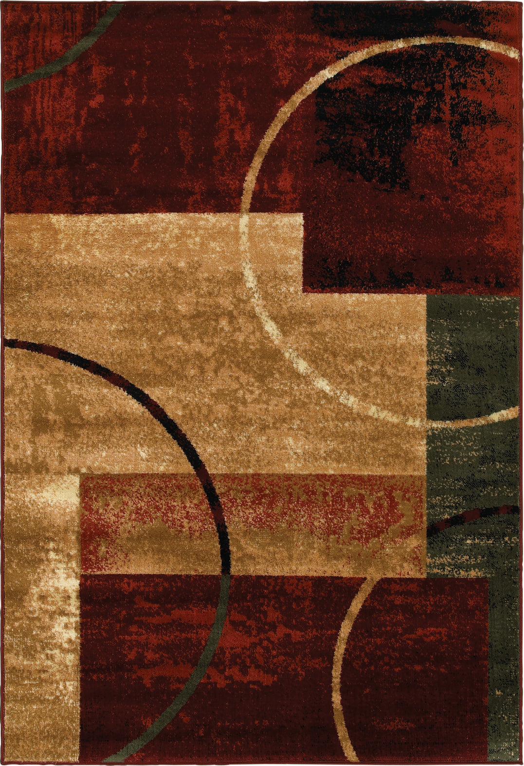 LR Resources Grace 81108 Red Area Rug main image