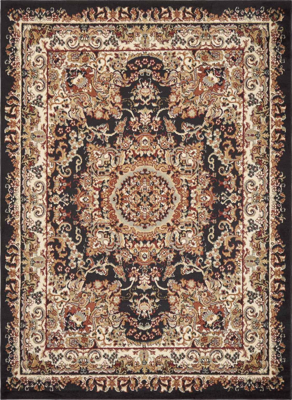 LR Resources Grace 81113 Black / Cream Area Rug main image