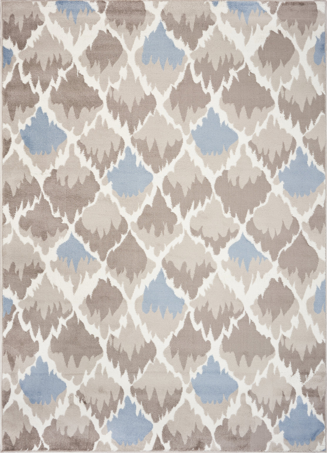 LR Resources Grace 81124 Gray / Light Blue Area Rug main image