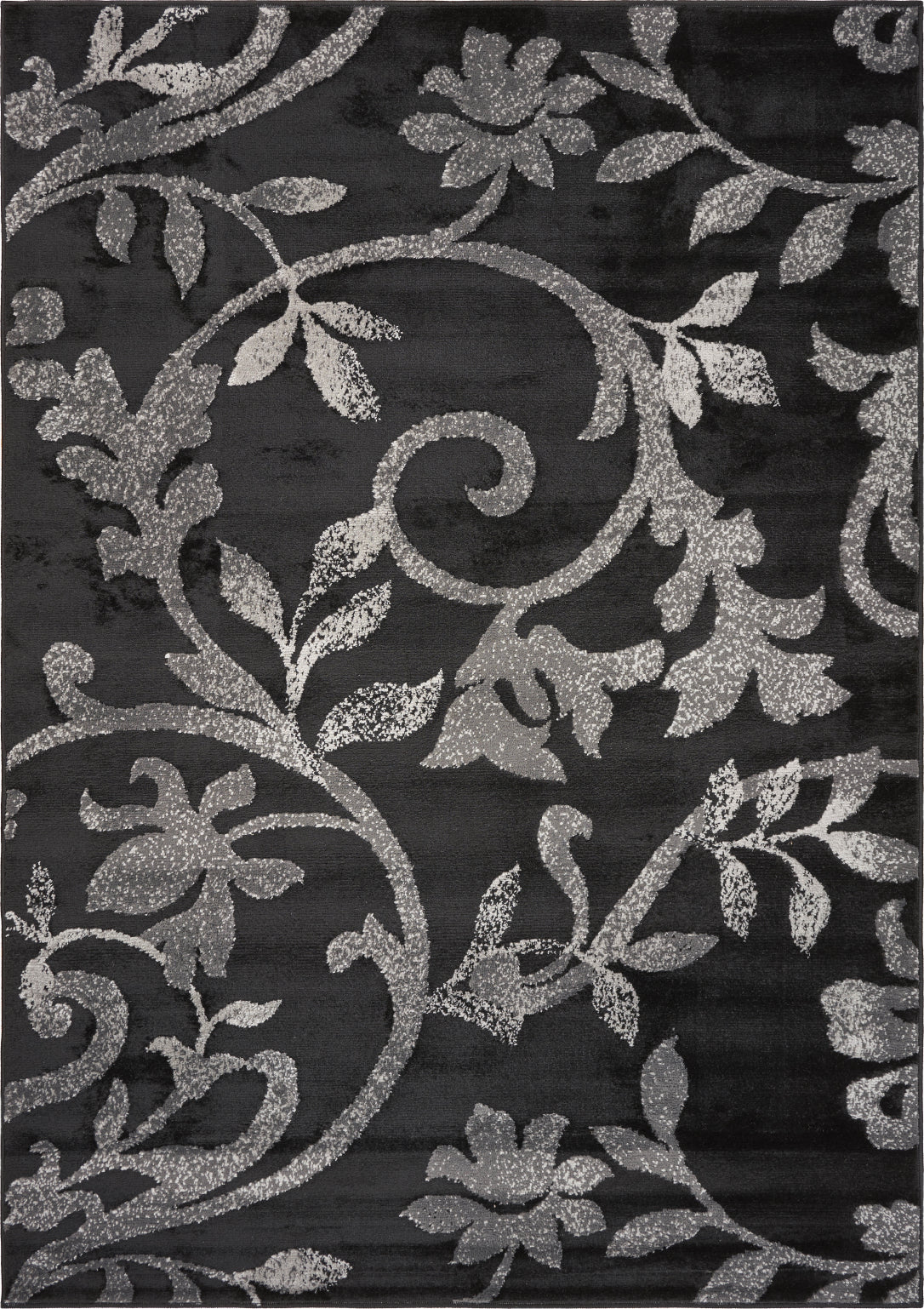 LR Resources Grace 81132 Black Area Rug main image