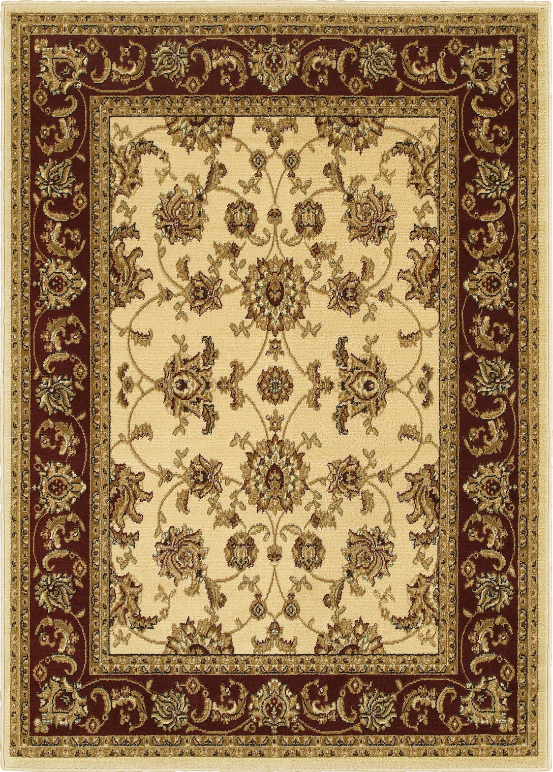 LR Resources Grace 81135 Ivory / Red Area Rug main image