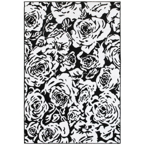 LR Resources Grace 81114 Black Area Rug