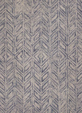 KAS Gramercy 1611 Blue Hither Herringbone Hand Tufted Area Rug