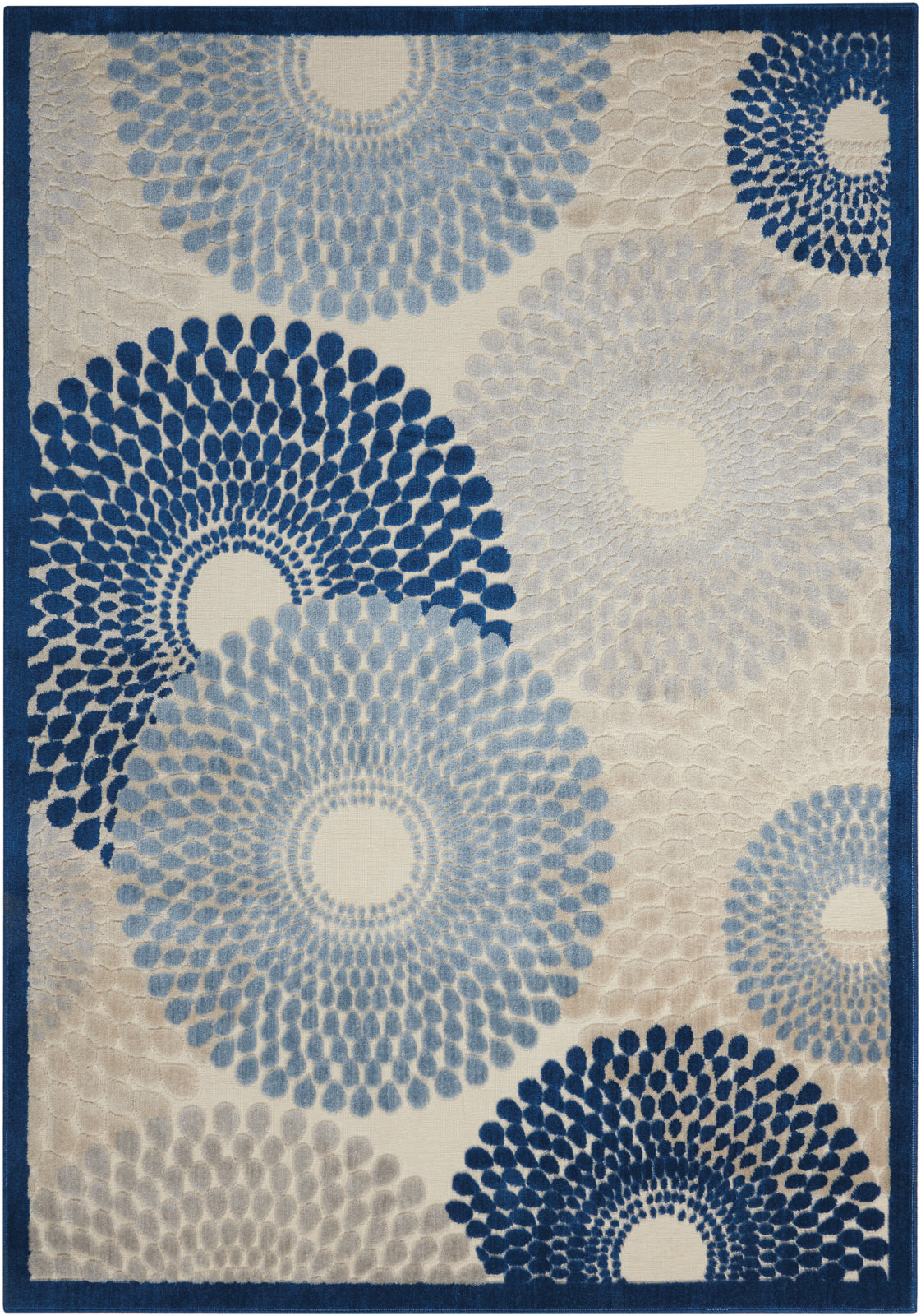 Nourison Graphic Illusions GIL04 Ivory/Blue Area Rug main image