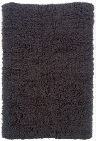 Linon New Flokati 1400 grams FLK-NFGY Grey/Grey Area Rug main image