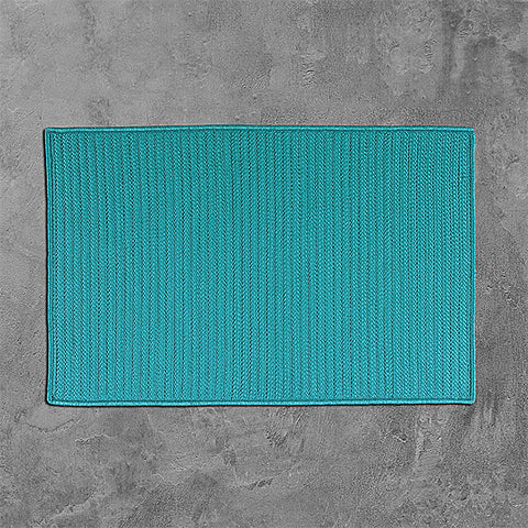 Colonial Mills Simply Home Solid H049 Turquoise Area Rug main image