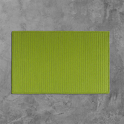 Colonial Mills Simply Home Solid H271 Bright Green Area Rug main image
