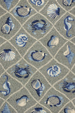 KAS Harbor 4219 Grey Seaside Hand Woven Area Rug