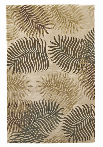 KAS Havana 2622 Natural Fern View Hand Tufted Area Rug