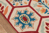 Momeni Havana HV-08 Red Area Rug Closeup