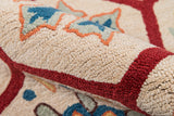Momeni Havana HV-08 Red Area Rug Detail Shot